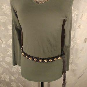Accessories - Tassled Beaded Fashion Belt